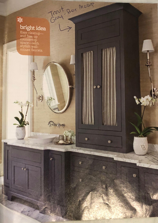 paint colorsrebekah unger  round mirror bathroom