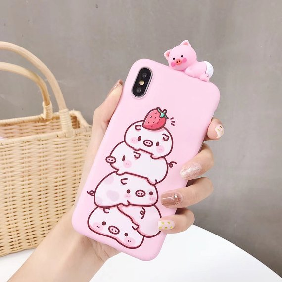 brand new a5862 b1661 iPhone XS Max Case Pig Piggy Piglet Pigling Pink Pinky Case Clear ...