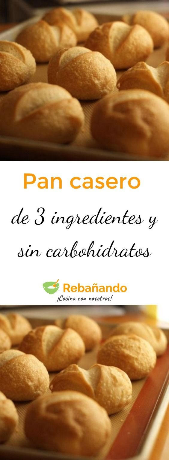 Delicioso PAN CASERO de 3 INGREDIENTES y SIN CARBOHIDRATOS