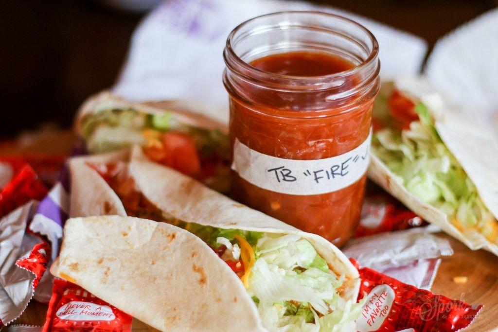 Copycat taco bell fire sauce spork barrel in 2020