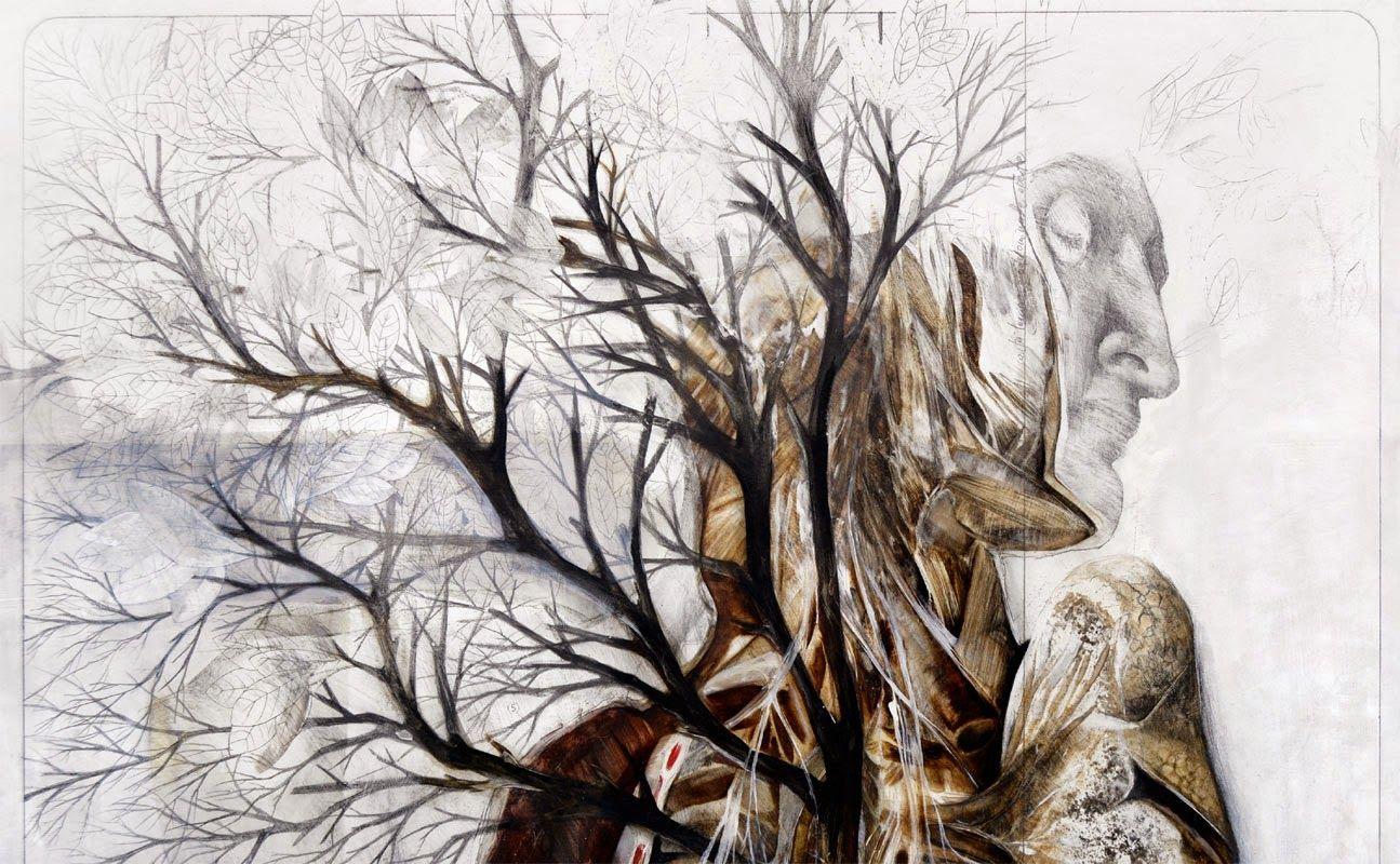 Title: Germinazione Dim: cm 130x100 Tecnique: pencil and oil on canvas / matita e olio su tela Year: 2014