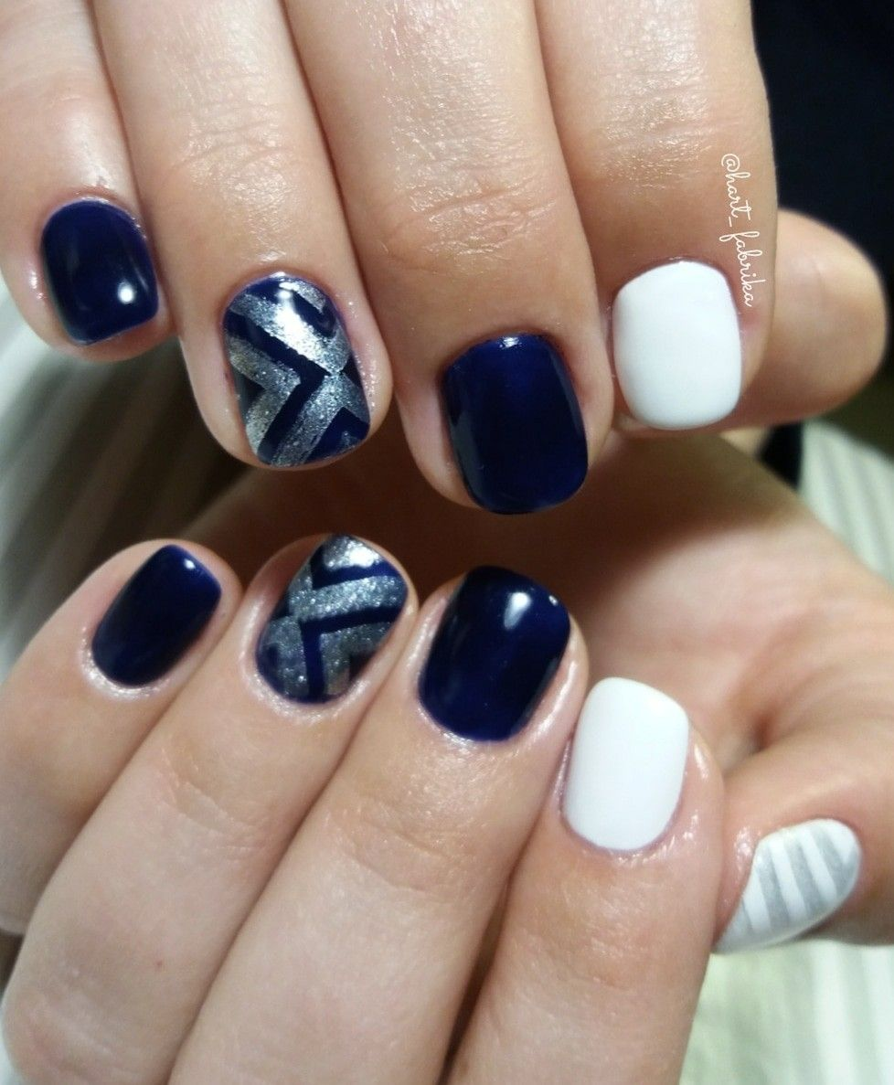 Buy Blue dark and white nails pictures trends