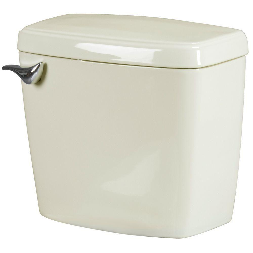 Bathroom Anywhere 1.6 GPF Toilet Tank Only in Bone (Ivory)