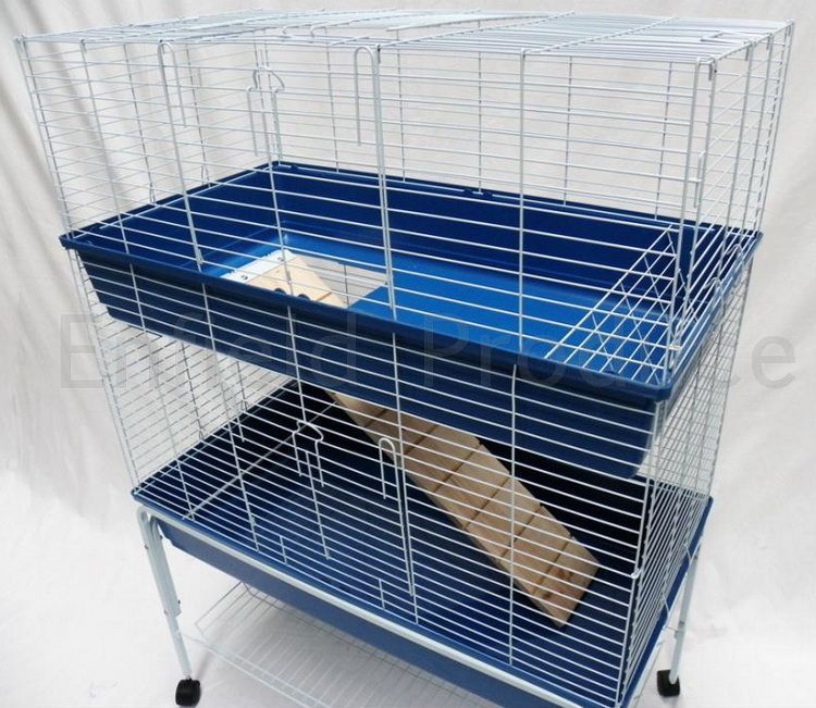 Enfield produce pet garden supplies double storey for Design indoor rabbit cages