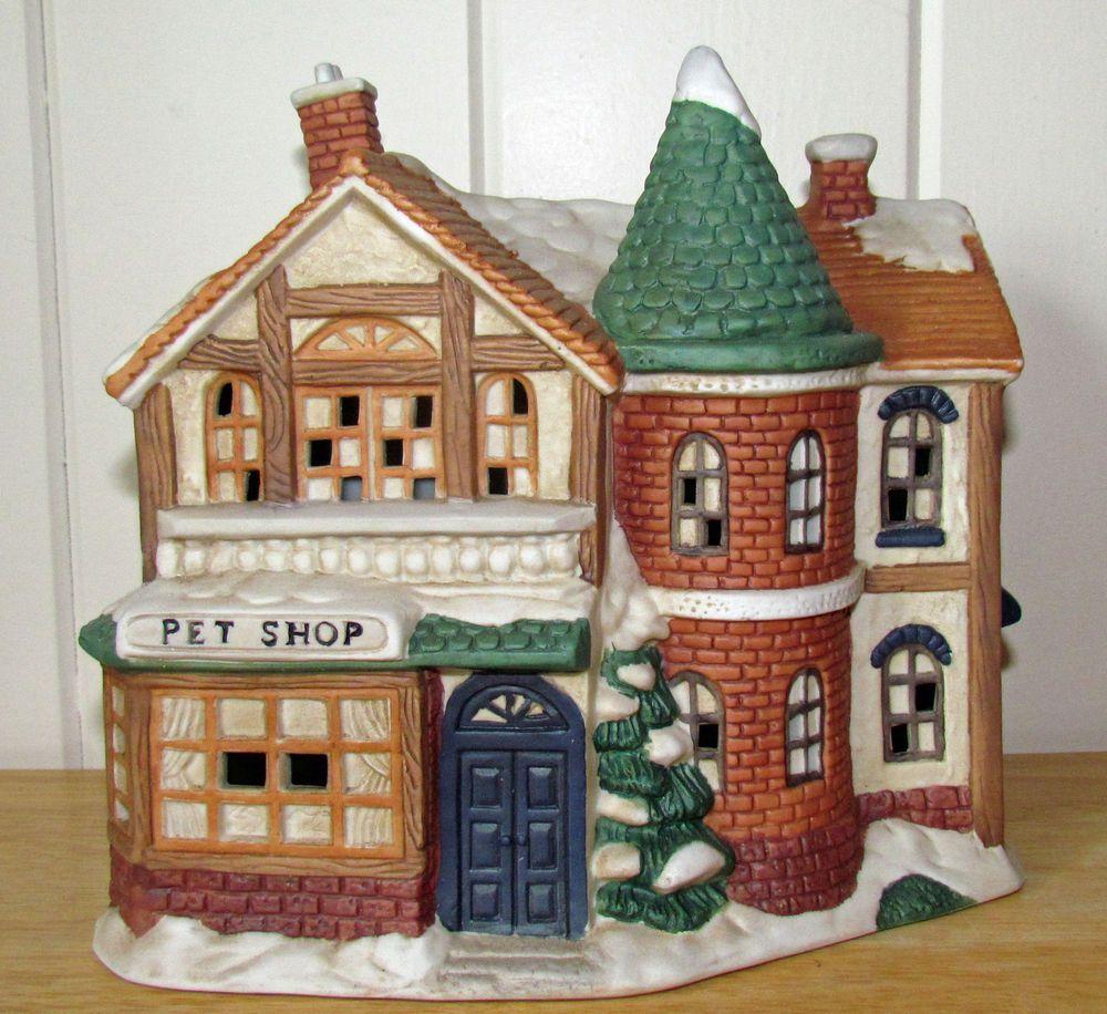 Mervyn's Village Square Christmas Village Building PET SHOP