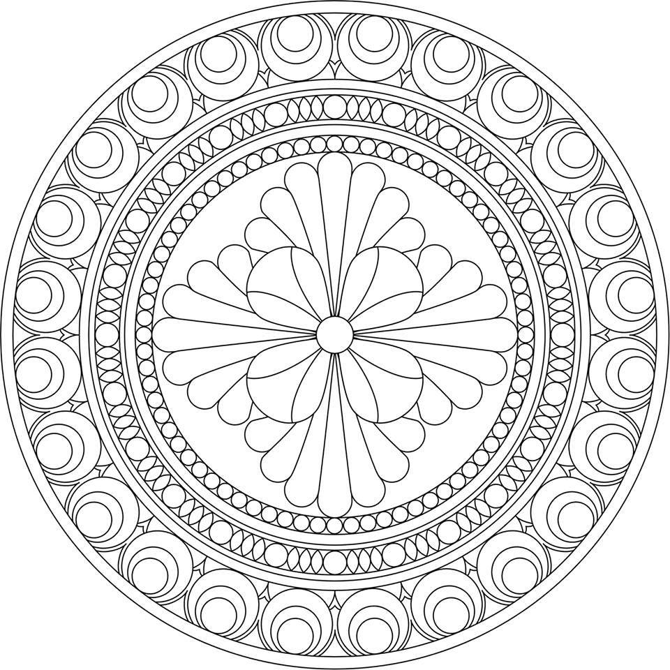 Desenho para colorir | MANDALAS | Pinterest | Mandalas, Colorear y ...