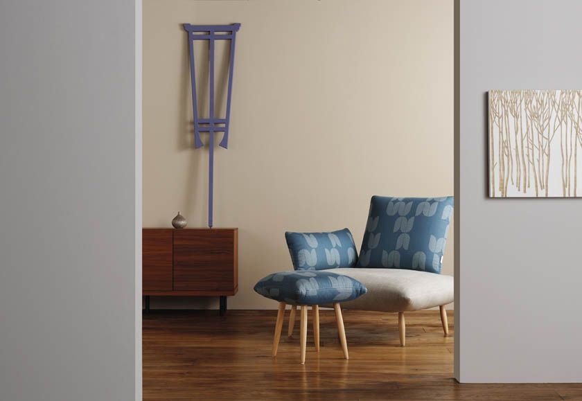 Mist, Blueberry And Mink Paints With Naoko Armchair