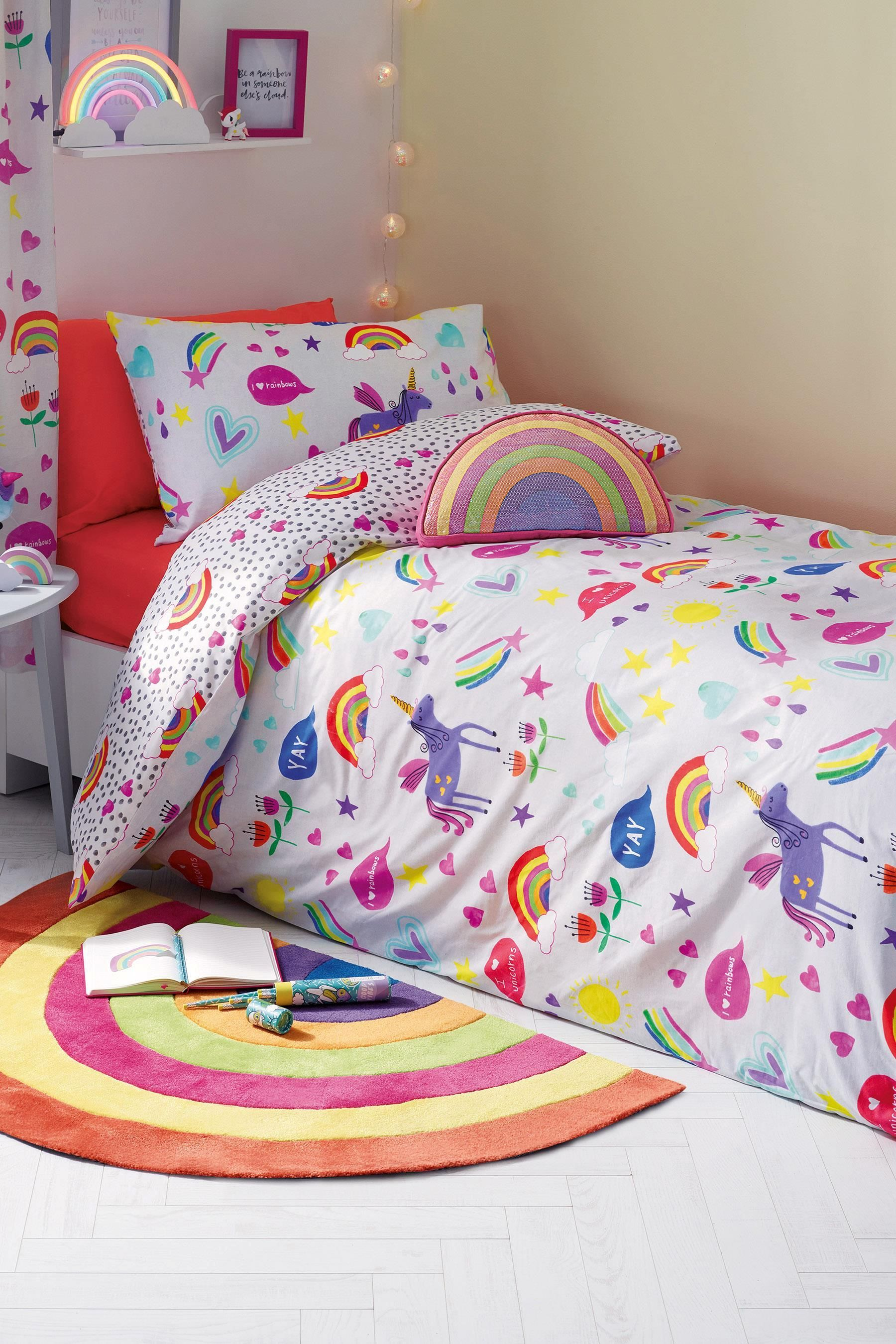 Buy Rainbow And Unicorn Bed Set From The Next Uk Online Shop
