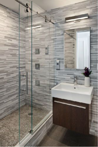 5ft 6 6ft Frameless Sliding Glass Shower Door Track Barn Shower Door Hardware Modern Bathroom Design Shower Sliding Glass Door Bathrooms Remodel