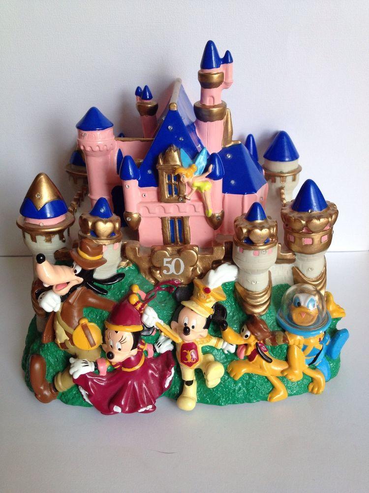 Disney S 50th Anniversary Cinderella Castle Magic Kingdom Light Up Piggy Bank