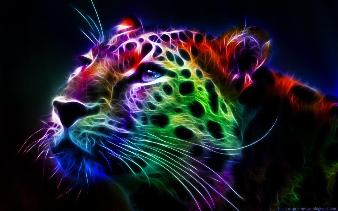 Colorful Desktop Backgrounds Leopard Fractal Desktop Backgrounds