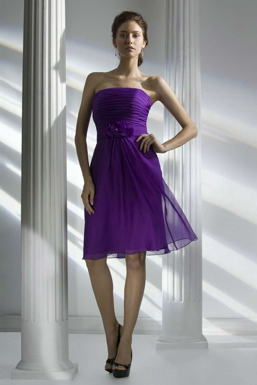Line strapless short chiffon bridesmaid dress in purple line strapless short chiffon bridesmaid dress in purple fashjourney ombrellifo Image collections