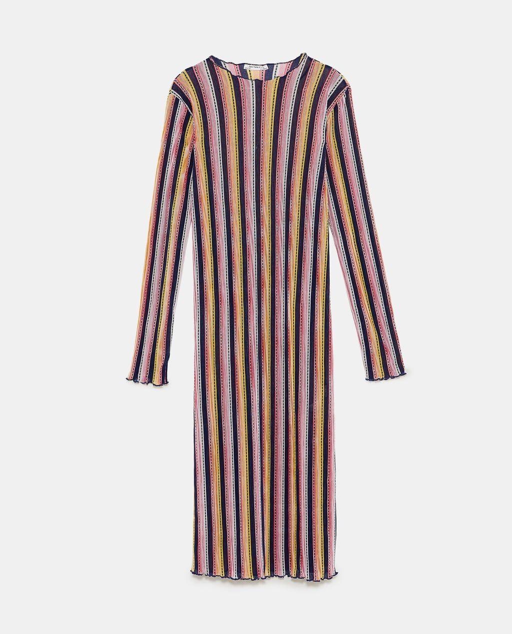 image 8 de robe plissÉe multicolore de zara | plissierte
