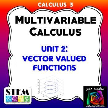 Calculus 3 Multivariable Calculus Unit 2 Exam | Calculus | Calculus