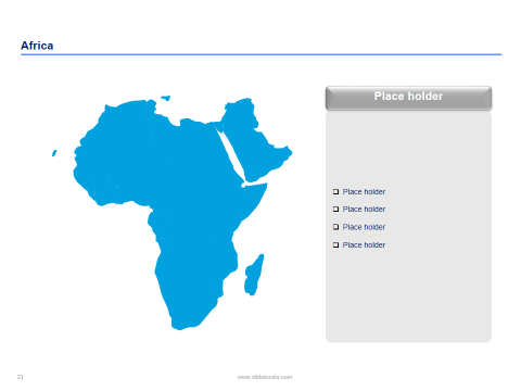Africa map templates africa map template and graphics africa maps and flags in powerpoint toneelgroepblik Choice Image