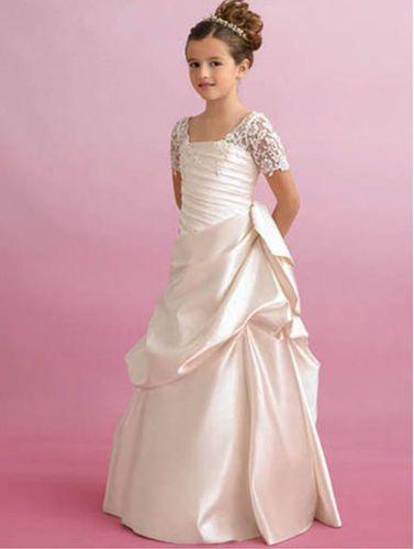 Mädchen Kleid Kommunion Fest Hochzeit Ballkleid Neu Gr.128 ...