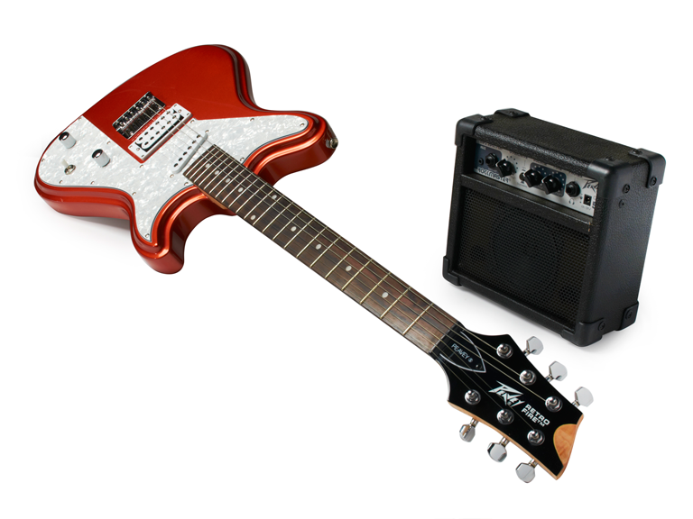 "Retro Fire Electric Guitar $79  Get your niece or nephew the gift that keeps on giving! An electric guitar! You can later say ""I started that Rockstar years ago!"""