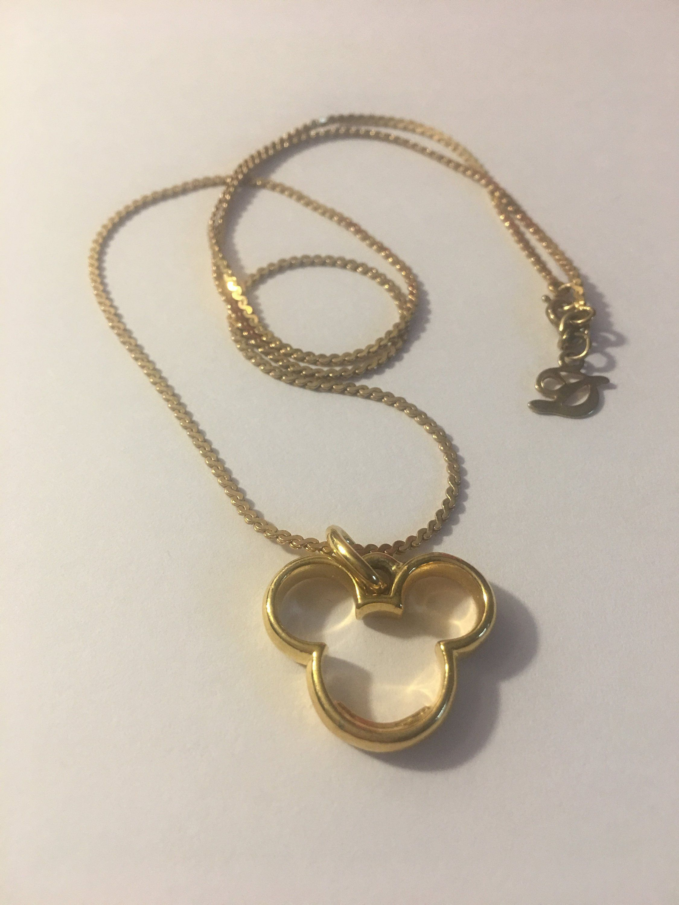 6fbd52a8101ad Disney Couture 80s Minnie Mickey Mouse Ear Pendant signed Disney ...