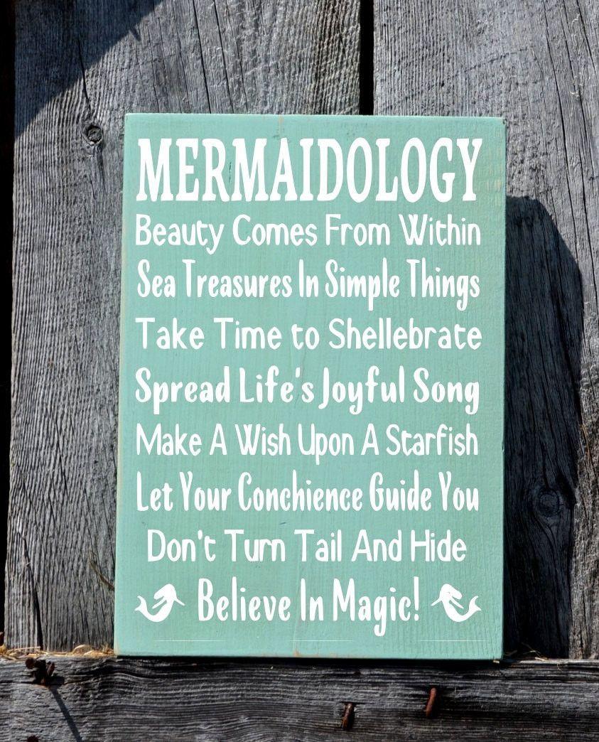 Mermaid Beach Signs Mermaidology Advice from A Mermaid Sign