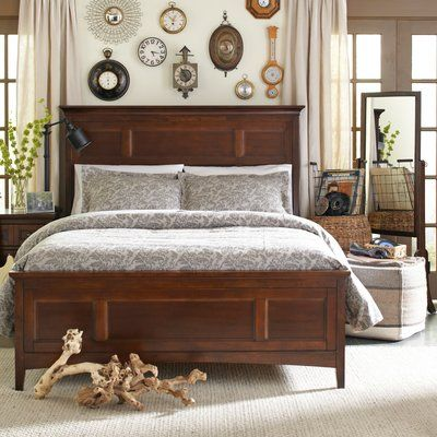 Darby Home Co Attalla Panel Bed With Storage Size Calking Bedroom Furniture For Sale Cherry Bedroom Furniture Panel Bed