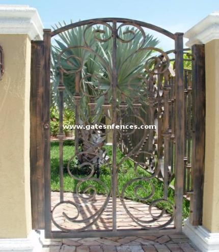 Decorative Garden Gate With Matching Design For A Driveway And Fence Panels