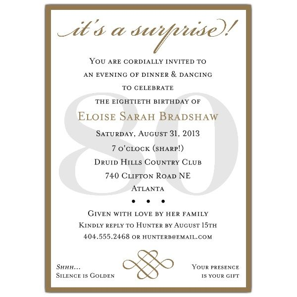 surprise 80th birthday party invitation wording