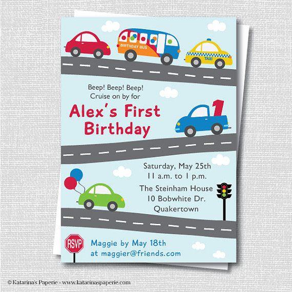 Cars And Trucks Birthday Invitation Cars And Trucks Party