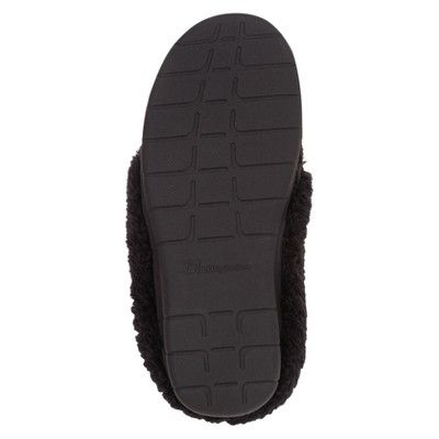 3d002694436 Women s dluxe by dearfoams Carol Cable Knit Scuff Slippers - Black L (9-10)
