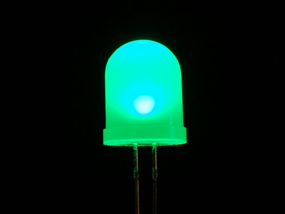Diffused Green 10mm Led 25 Pack Led Diffuser Diy Electronics