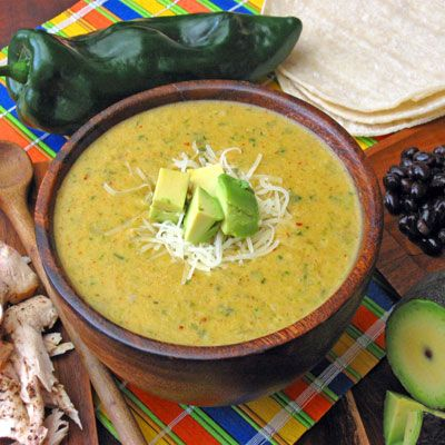 Poblano Soup Recipe Food  Drink - SouperSalad! Pinterest