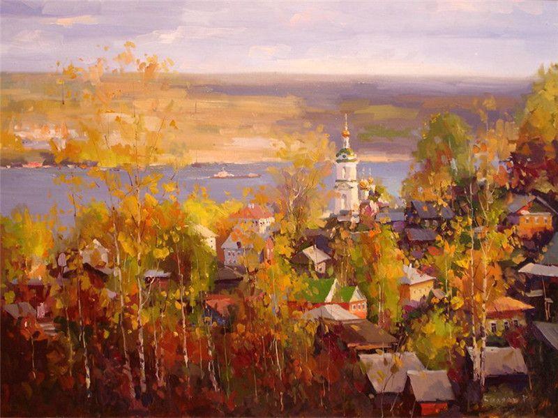 Остроухов Илья Семенович. Золотая осень. (с изображениями ...