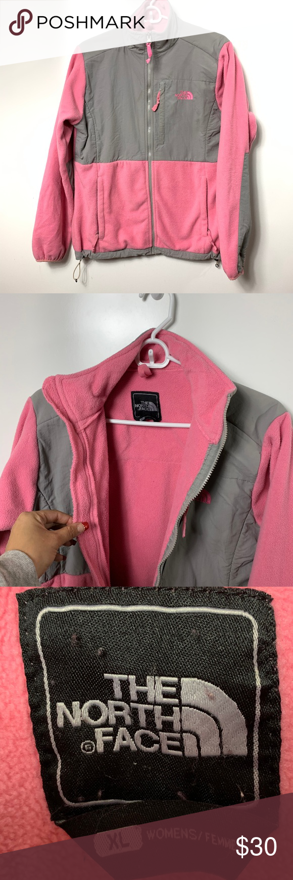 The North Face Jacket Fleece Pink Gray Womens Xl North Face Jacket The North Face Pink Grey [ 1740 x 580 Pixel ]