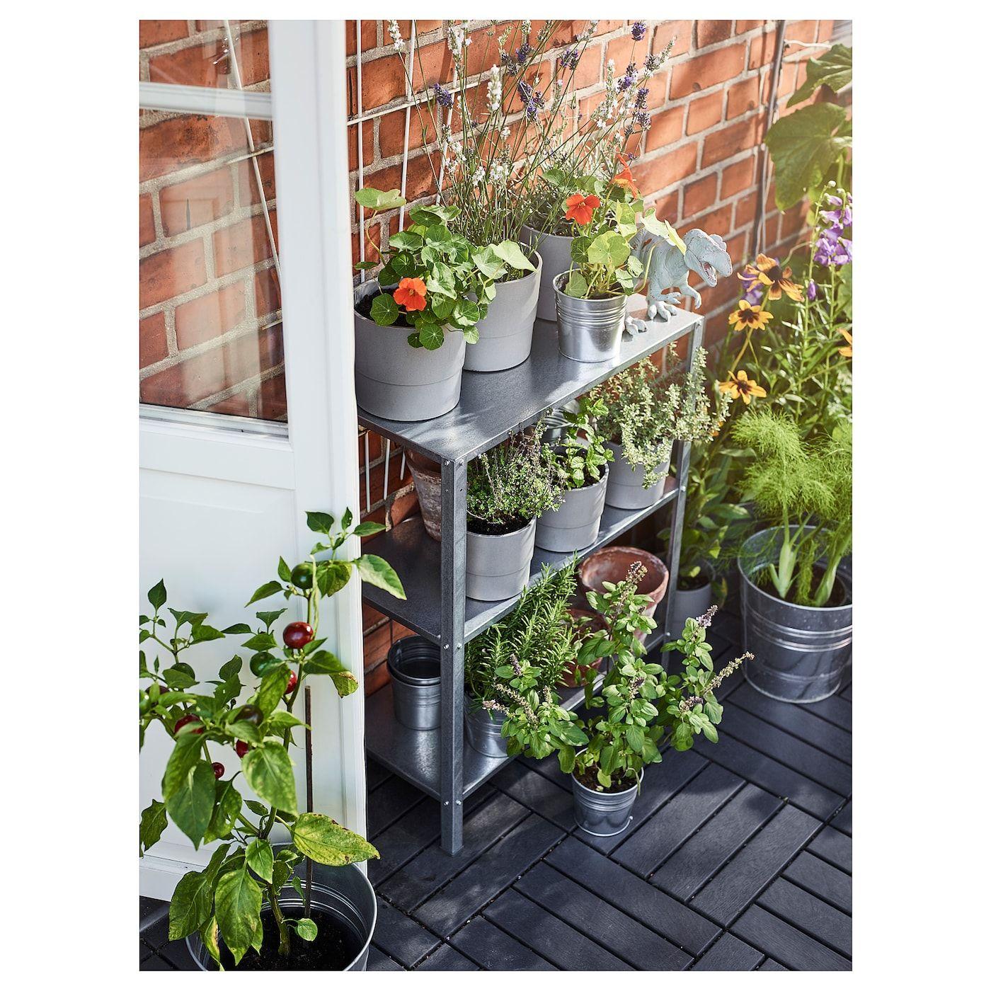 Hyllis Shelf Unit Indoor Outdoor 23 5 8x10 5 8x29 1 8 Ikea Ikea Garden Indoor Garden Small Garden
