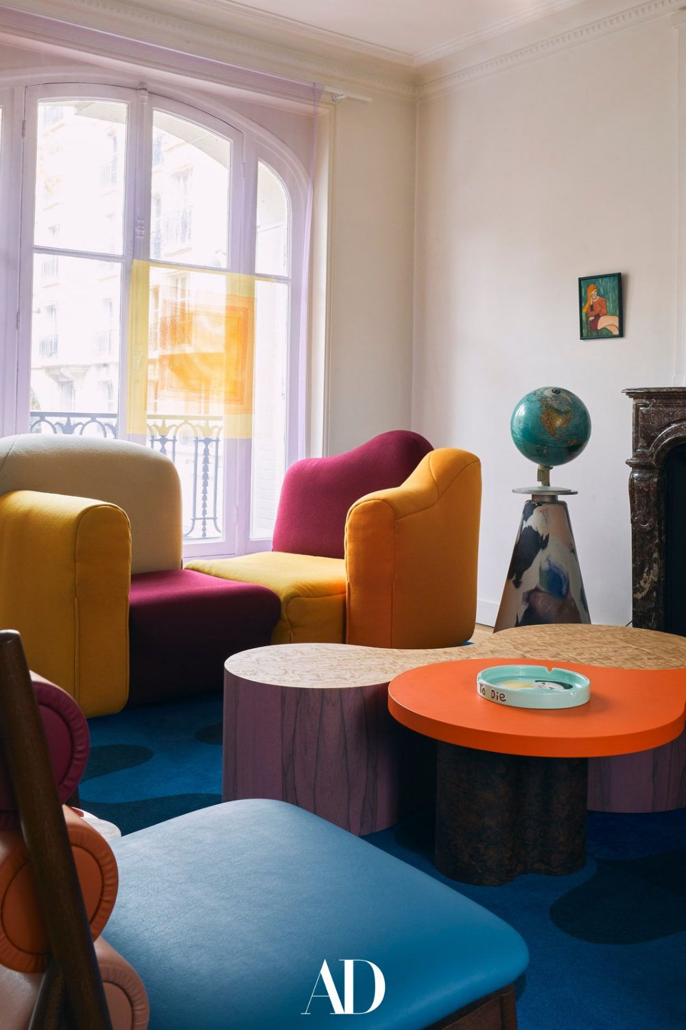 Visit the colorful and open apartment of a young P