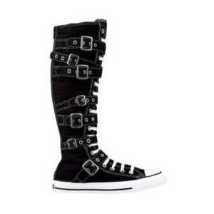 high top converse with buckles