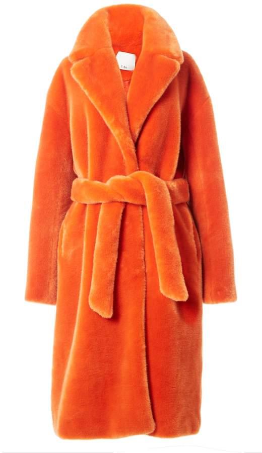 78133a5c37b5 Tibi Luxe Faux Fur Oversized Coat