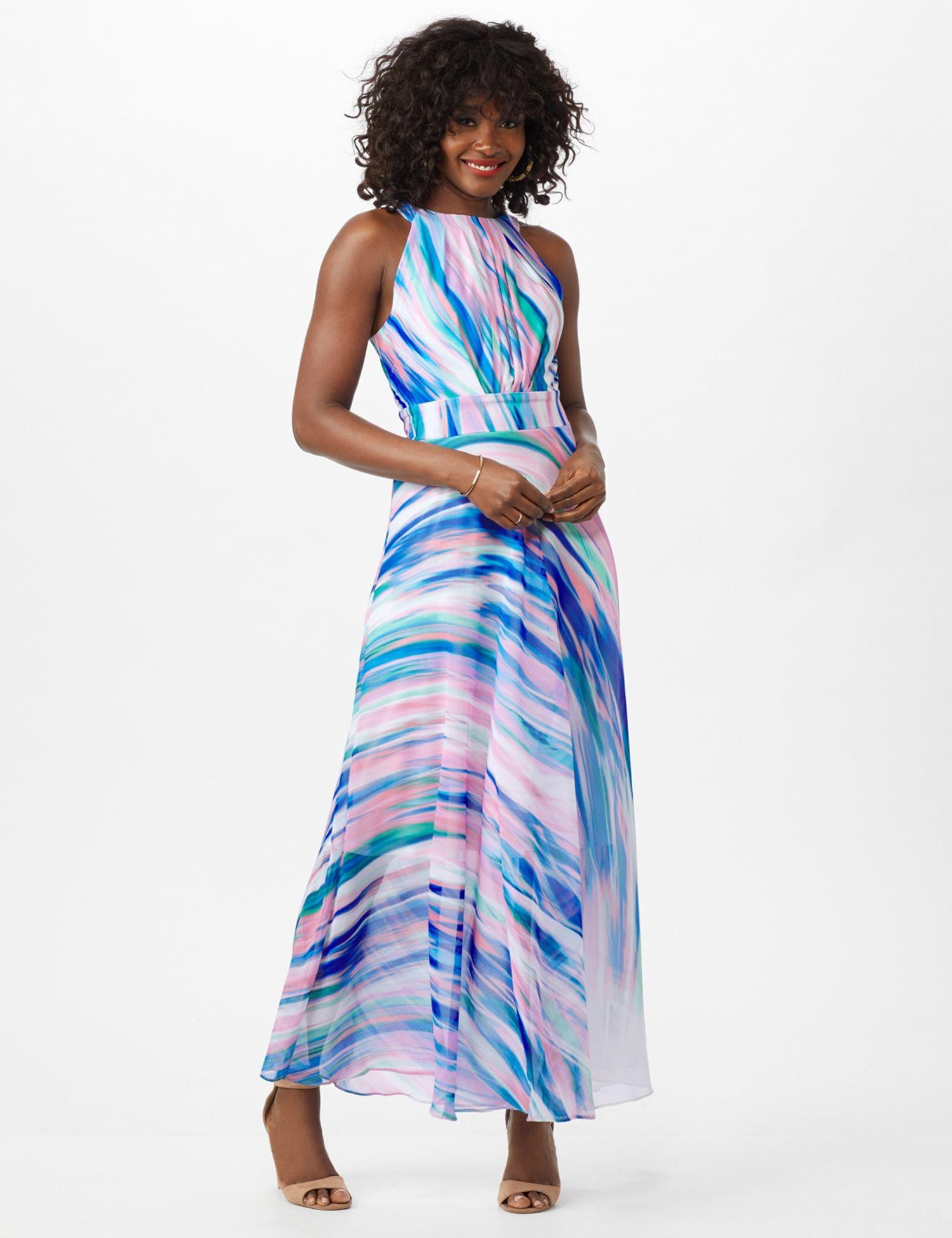 Watercolor Swirl Print Patio Dress Patio Dress Dresses Maxi Dress [ 1950 x 1500 Pixel ]