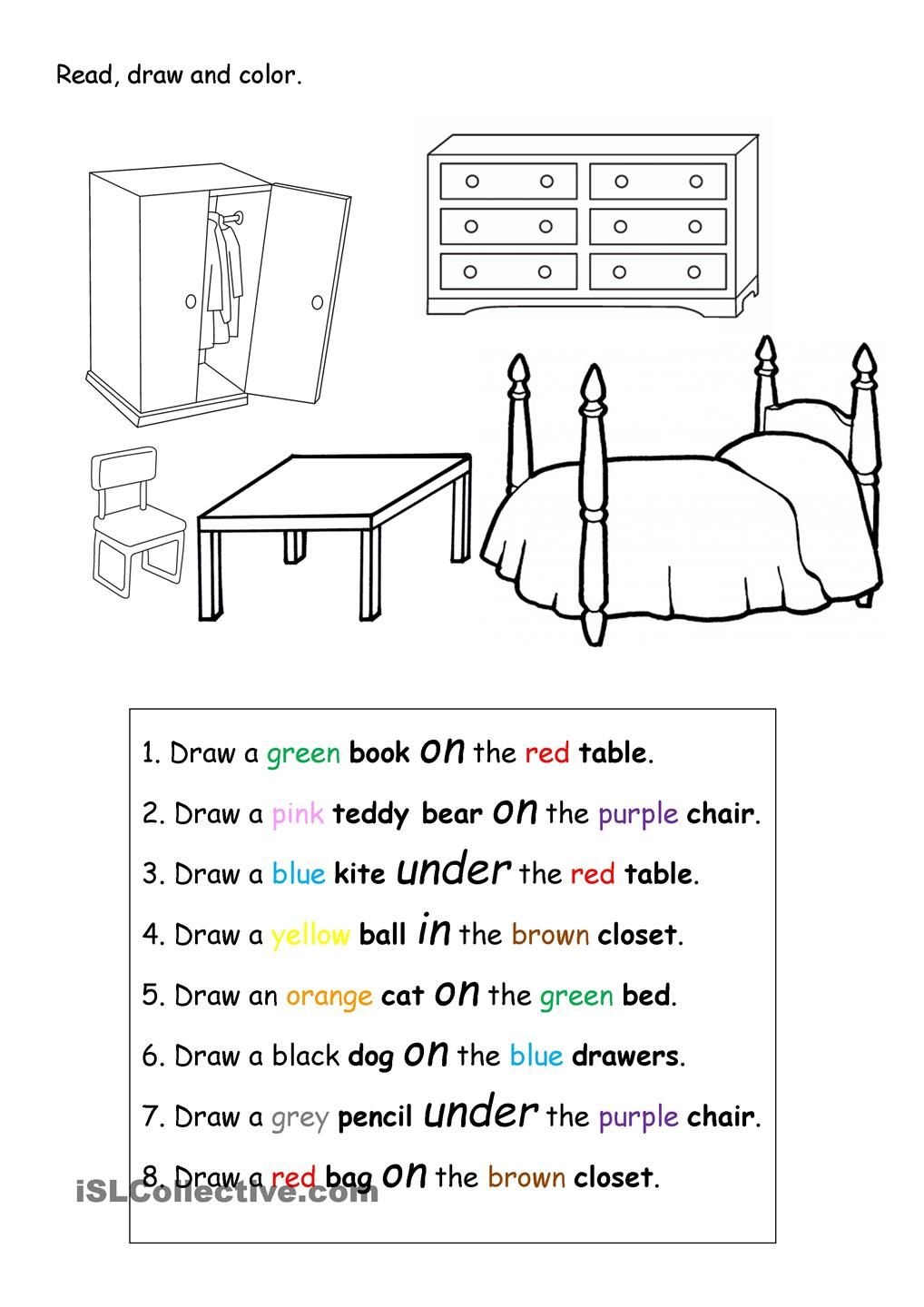 Scribble Drawing Exercise : Read draw and color english pinterest
