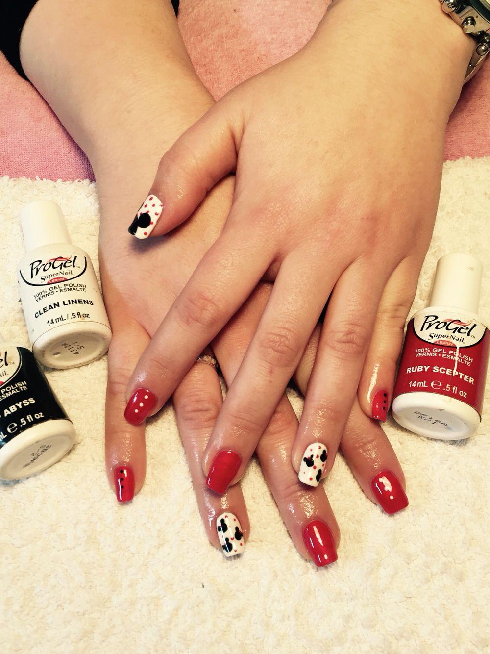 Mickey mouse supernail professional progel nail art X | Gel nail art ...