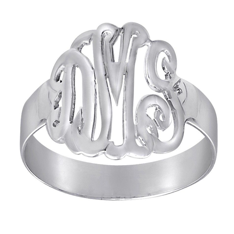 Monogrammed Ring - Silver