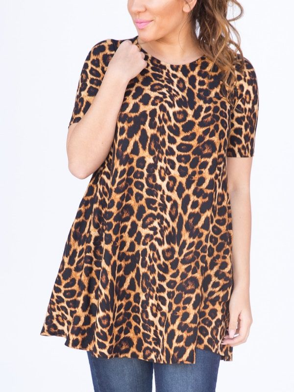 7a8a7d2b7220 Agnes   Dora Swing Tunic Baby Suede Amber Cheetah Legging Material Kitty Animal  Print Leopard Print Swing Top Dress Agnes and Dora ...