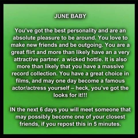 June Baby June Baby How To Be Outgoing Birth Month Meanings