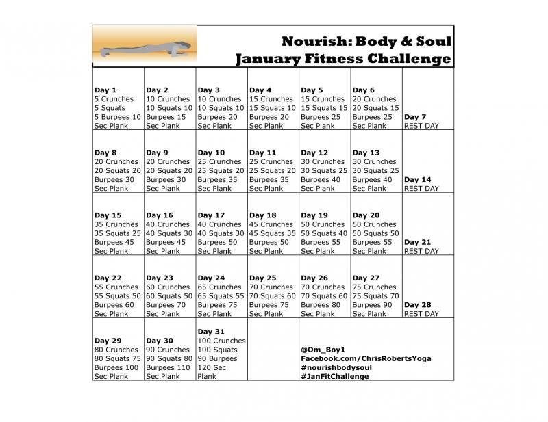 January fitness challenge fitness fitnesschallenge