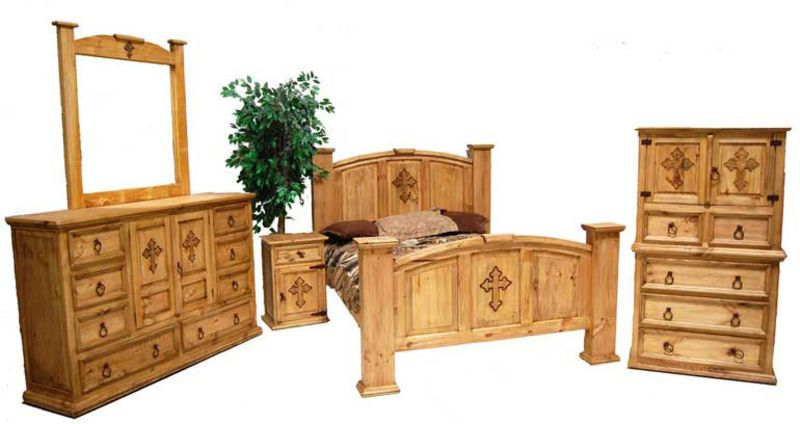 Mansion Rustic Bedroom Set With Cross Rustic Bedroom Furniture Rustic Bedroom Sets Bedroom Set
