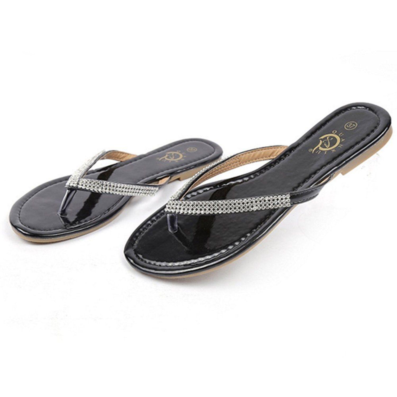 Womens sandals reviews - Vonrui Women S Pu Leather Ox Tendon Flats Sandals Flip Flops Read More Reviews