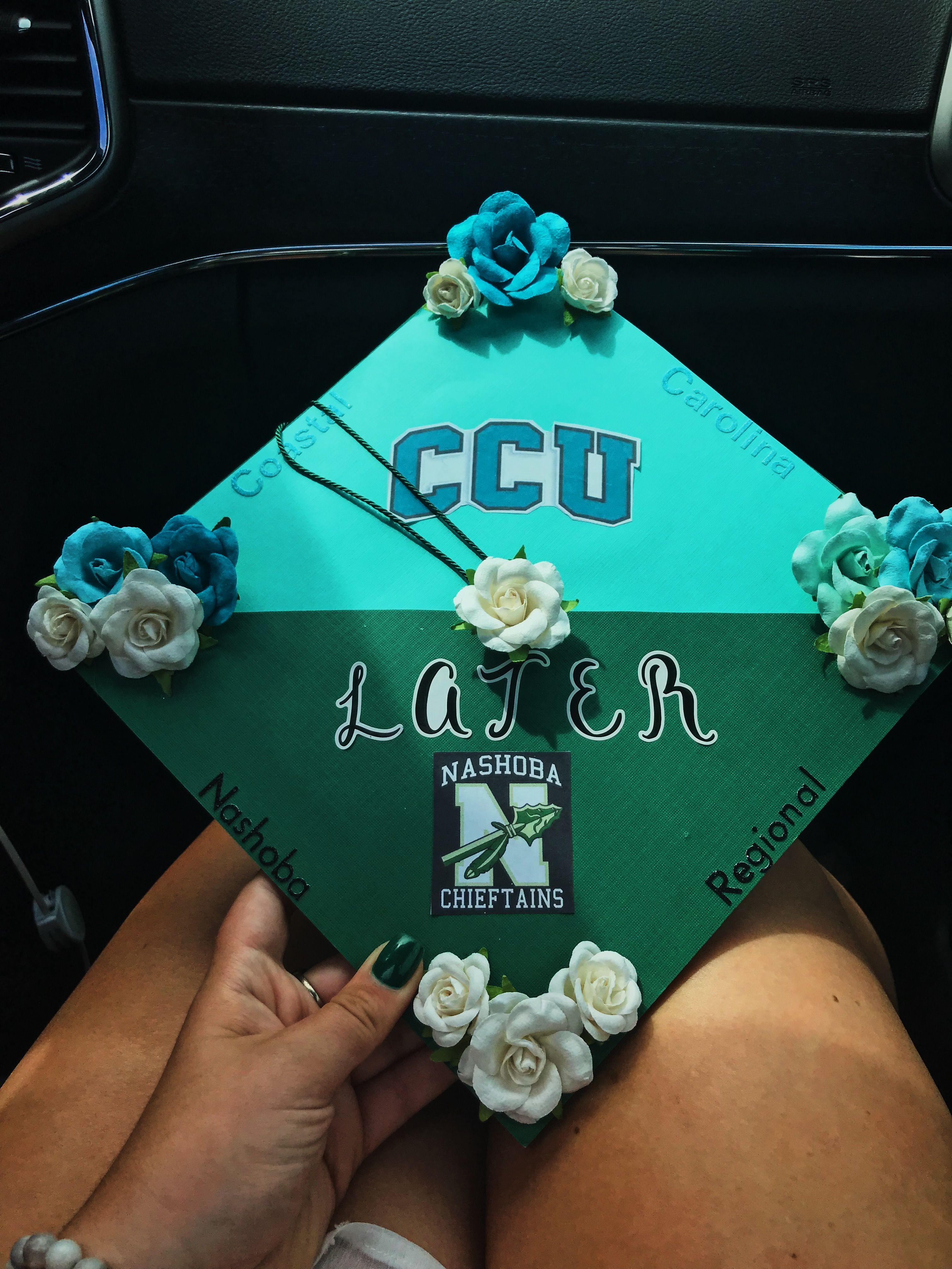 Coastal Carolina high school grad cap Grad cap, Coastal