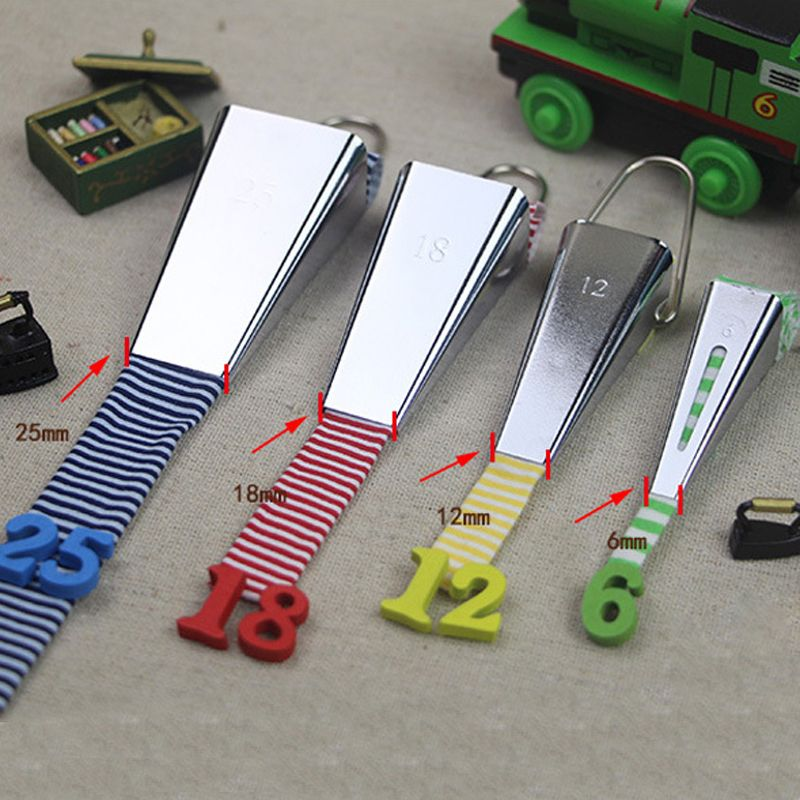 1pcs 6mm 12mm 18mm 25mm  Fabric Clover Bias Tape Maker Binding Tool Set Machine Tool Sewing Quilting Hemming  Sewing Tools