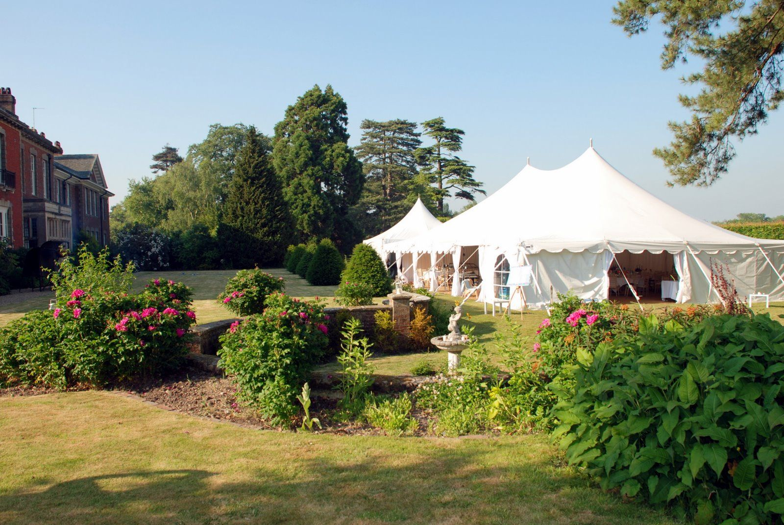 Pagoda marquees are stunning with their Marie Antoinette worthy shape.  All you need is a great space to put one