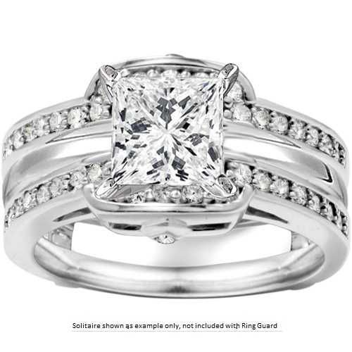 this classic style ring enhancer has design inspiration from many different places it is the perfect classic ring guard with a modern - Wedding Ring Guards