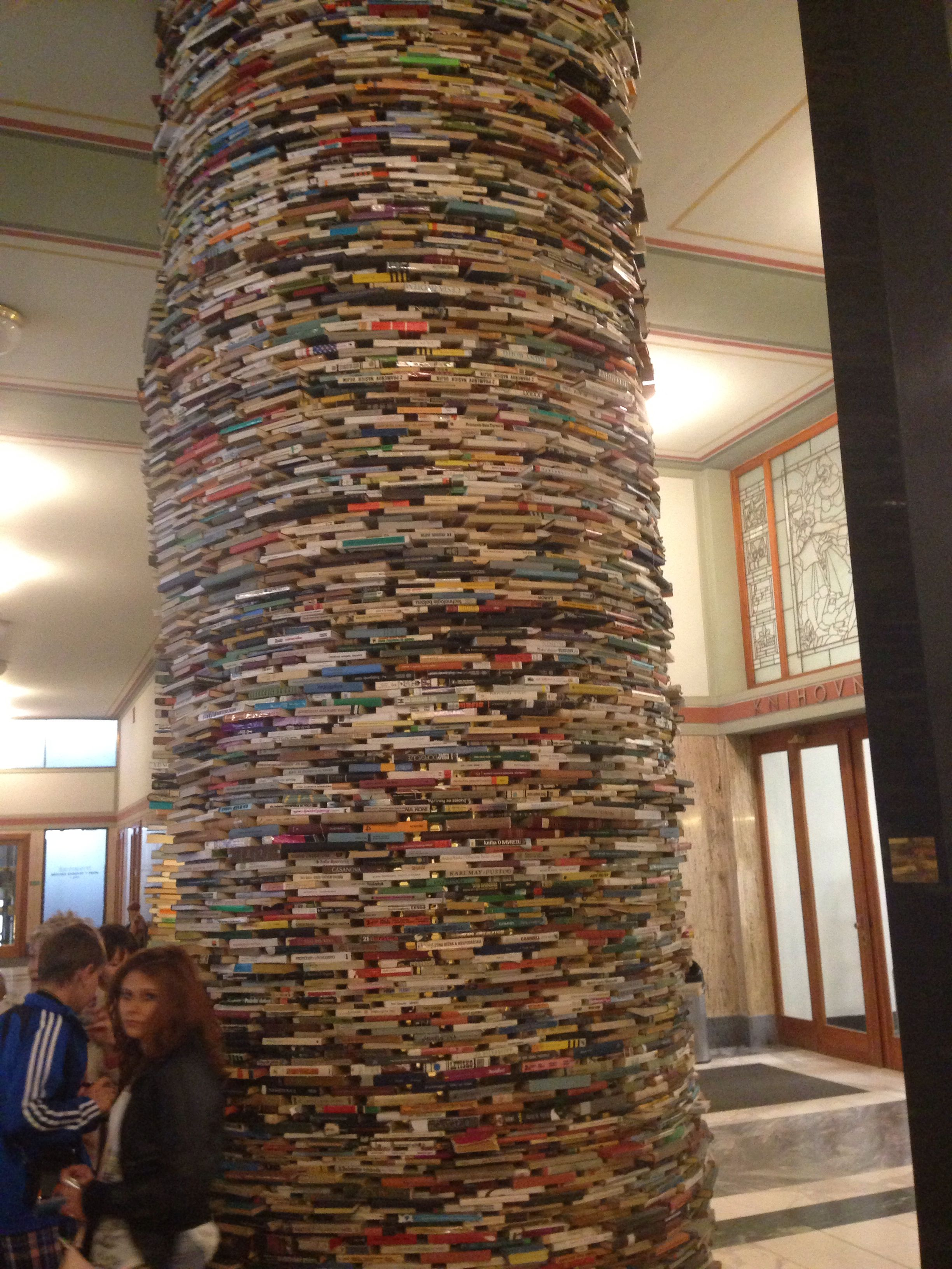 Famous Library In Prague. Art Installation Solely